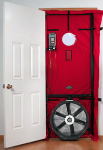 Blower Door Test in a New Home