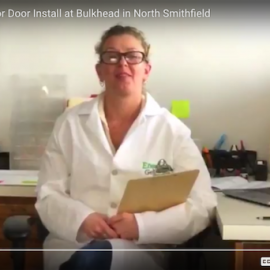 Energy Efficient Door Install at Bulkhead in North Smithfield, Rhode Island