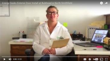 Energy Efficient Door Install at Bulkhead in North Smithfield, Rhode Island