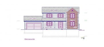 Two Story Colonial Home Design Project in Warwick, Rhode Island