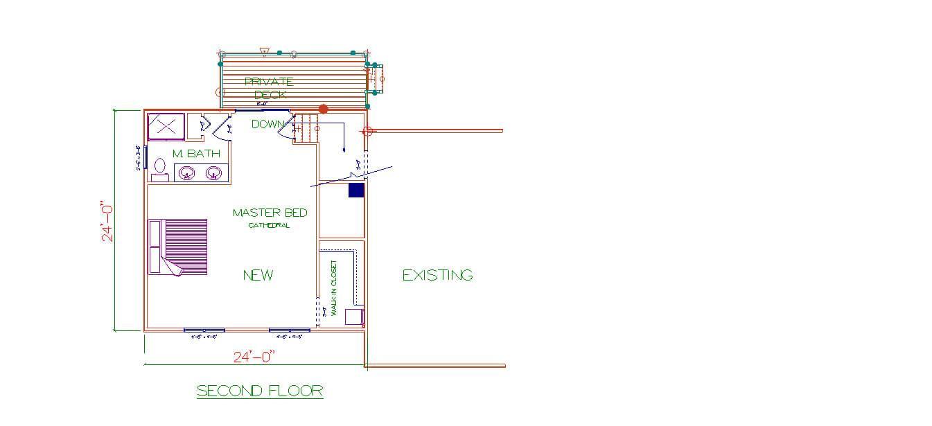 Custom Home Design - Second Floor in Warwick, RI