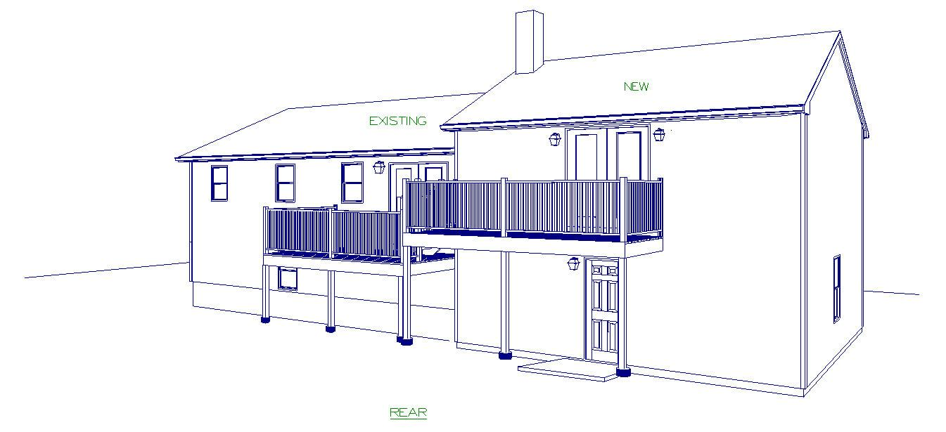 Custom Home Design - Visible Line Rear in Warwick, RI