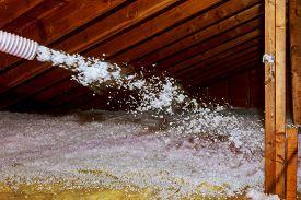 attic insulation in an older home