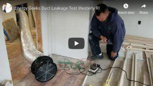 Duct Leakage Testing Westerly RI